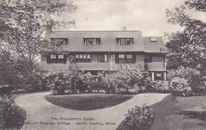 Massachusetts South Hadley The Presidents Home Hall Mount Holyoke College Alb...