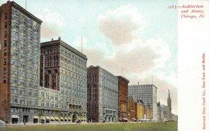 Auditorium and Annex, Chicago, Illinois, Early Postcard, Unused