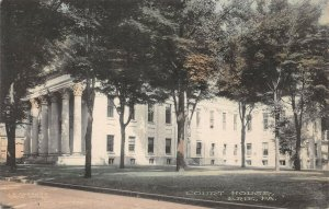LPS02 Erie Pennsylvania Court House Hand Colored Postcard