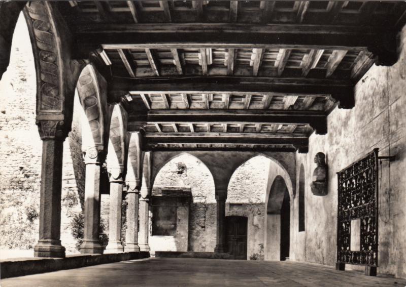 Switzerland, Suisse, Castello Visconti Locarno, porticato, unused real photo