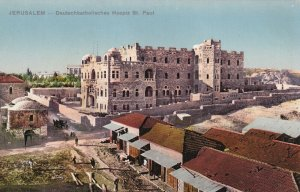 JERUSALEM, Israel, 1900-1910s; Deutschkatholisches Hospiz St. Paul