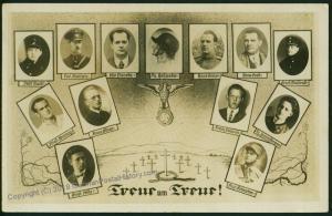 1923 Hitler Putsch Martyrs  RPPC 52365