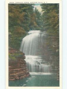 W-Border BASIN AT CHEQUAGA GORGE Montour Falls Near Elmira & Ithica NY E4390-14