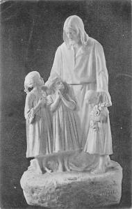 Mogyorossy Sandor marvanyszobormuve: Jezus a gyermekek kozott, sculpture 1914