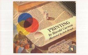 Printing Harold Curwen 1948 Puffin Book Postcard