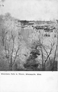 Minneapolis Minnesota~Minnehaha Falls in Winter~Frosted Trees~Frozen Falls~1910