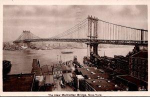 New York City The New Manhattan Bridge 1911 Real Photo