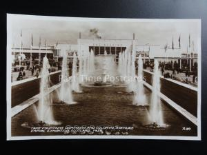 Scotland: 1938 RP Empire Exhibition LAKE FOUNTAINS DOMINIONS & COLONIAL AVENUE