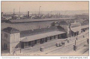 Algeria Alger La Gare et le Port Railroad Station