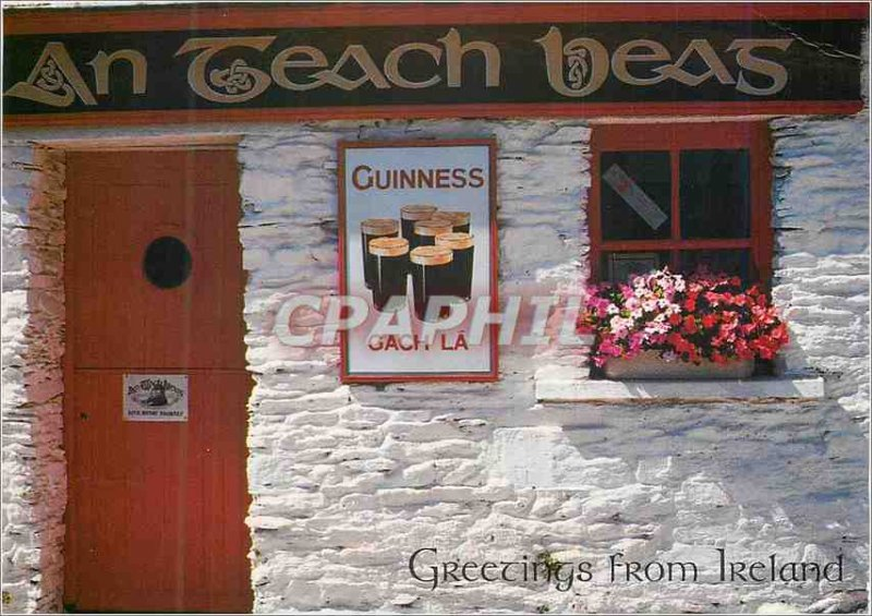 Modern Postcard Greetings from Ireland Guinness