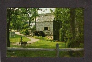 MA Dexter's Dexter Grist Mill Grinding Sandwich Mass Massachusetts Postcard