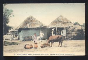 TELUGU CHIRISTIAN HOMES SATTENAPALIE SOUTH INDIAN VINTAGE POSTCARD