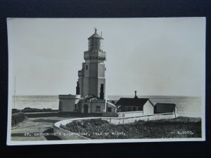 Isle of Wight NITON - ST. CATHERINES LIGHTHOUSE c1952 RP Postcard by Valentine