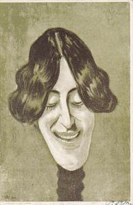 Stage Actors Head Caricature portrait , PU-1905 ; New York City ; #4