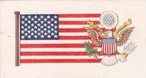 Brooke Bond Tea Trade Card Flags &  Emblems No 40 U S A