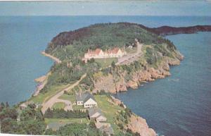Aerial view of Keltic Lodge,Cape Breton Higland,Nova Scotia,Canada, 40-60s