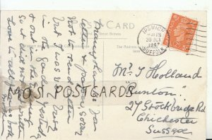 Genealogy Postcard - Holland - Stockbridge Rd - Chichester - Sussex - Ref 8890A