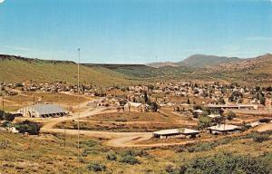 Bagdad Arizona~Birdseye Panorama~Downtown~Homes~Dirt Roads~1960s Postcard