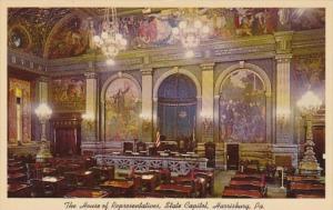 Pennsylvania Harrisburg State Capitol The House Of Representatives