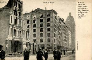 CA - San Francisco. April 1906 Earthquake & Fire. Palace Hotel, Grand Hotel