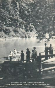 Canoeing On The Connoquenessing Camp Kon-O-Kwee Y M C A Of Pittsburg Pennsylv...