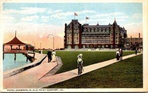 Virginia Old Point Comfort Hotel Chamberlin 1916 Curteich