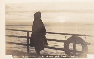 RP: Woman on deck of steamship, 10 Minutes past Midnight, Artic Circle, Nunavut