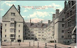 NEW HAVEN, Connecticut  CT   Wright Memorial Dormitory YALE UNIVERSITY  Postcard