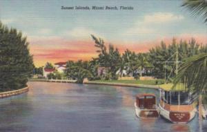Florida Miami Beach Sunset Islands Curteich