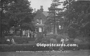 Old Vintage Lawn Bowling Postcard Post Card Friedensthal from the Bowling Gre...