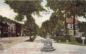 C34/ Hot Springs Arkansas AR Postcard c1910 Bath House ROw Gov't Reservation Off
