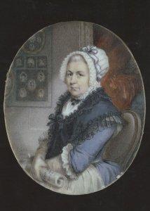 Philip Jean Portrait Of Elizabeth Malin RA Housekeeper Painting Postcard
