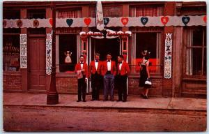 Central City CO Postcard THE SMORGASBORD Restaurant Street View Wait Staff 1950s