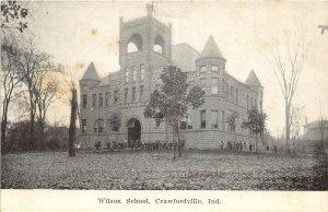 F60/ Crawfordville Indiana Postcard c1910 Wilson School Building