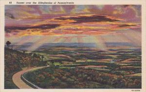 Pennsylvania Harrisburg Sunset Over The Alleghenies Of Pennsylvania