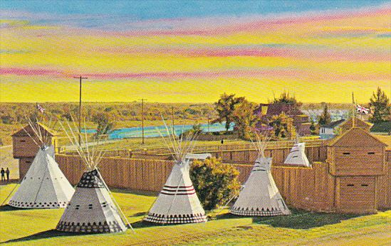 Canada Indian Teepees Fort MacLeod Alberta