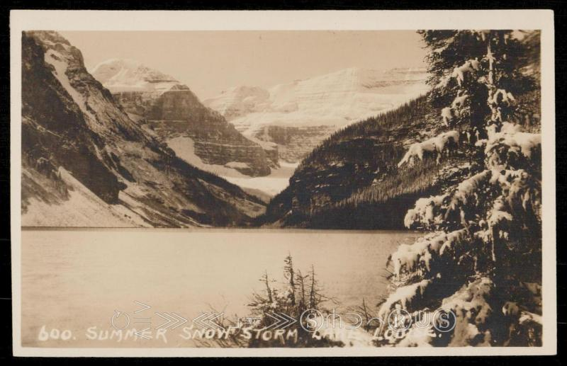 Summer Snow Storm - Lake Louise