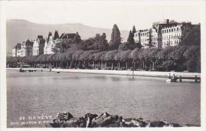 Switzerland Geneve Quai Wilson Et Palais Des Nations Real Photo