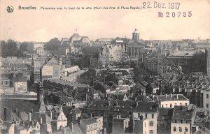 Panorama vers le haut de la Ville, Place Royale Bruxelles Belgium Unused