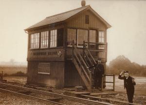 Maidenhead Berkshire Railway Station Signal Box Postcard