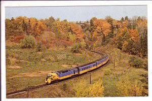 Northlander Train, Don Valley, Toronto, Ontario,
