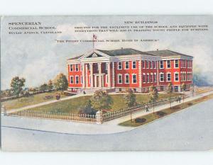 Pre-1907 SPENCERIAN COMMERCIAL SCHOOL Cleveland Ohio OH A1752-13