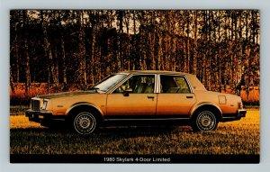 Car- 1980 Buick Skylark 4-Door Limited, Bronze Color, Chrome Postcard