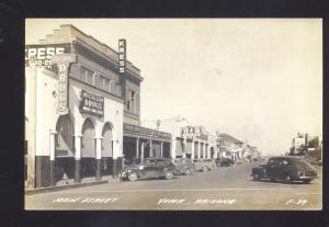 RPPC YUMA ARIZONA DOWNTOWN STREET SCENE 1940's CARS VINTAGE REAL PHOTO POSTCARD