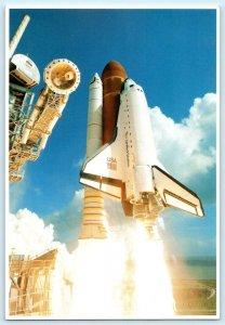 NASA Kennedy Space Center, FL ~ Space Shuttle ATLANTIS  5x7 - 1990 Postcard