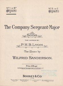 The Company Sergeant Major Wilfrid Sanderson 1940s Sheet Music
