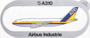 AIRBUS INDUSTRIE A310 VINTAGE AVIATION LABEL
