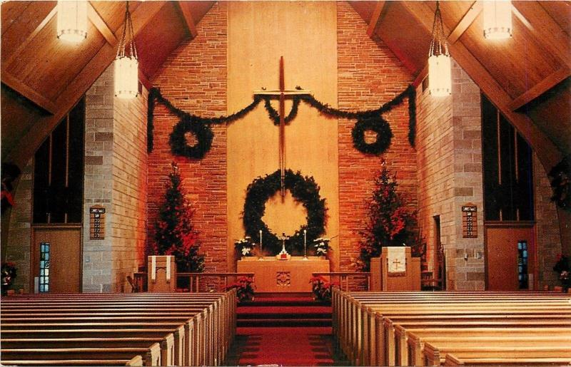 Racine Wisconsin~Interior at Christmas Time~St Pauls Lutheran Church~Melvin Ave