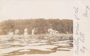 Lake Kegonsa Wisconsin~Mary From Beloit: Another View Big Hill~Cabins~1907 RPPC