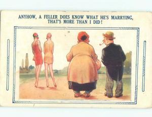 Bamforth Slight Risque Interest FAT WOMAN NOTICES TWO SKINNY WOMEN AB8262